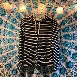 ROXY stripped zip up hoodie